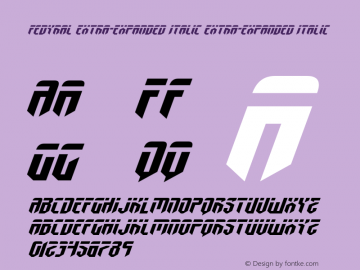 Fedyral Extra-Expanded Italic