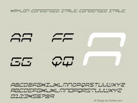 Kaylon Condensed Italic