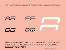 Kaylon Semi-Bold Italic