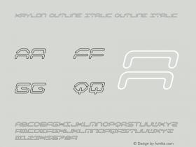 Kaylon Outline Italic