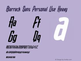 Blarrack Sans Personal Use