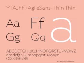 YTAJFF+AgileSans-Thin