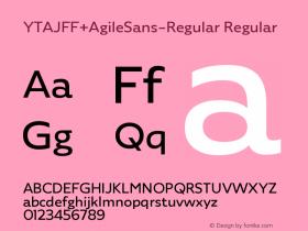 YTAJFF+AgileSans-Regular