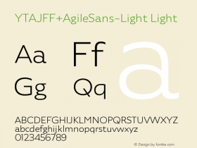 YTAJFF+AgileSans-Light