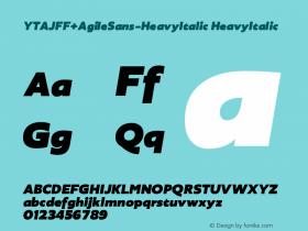YTAJFF+AgileSans-HeavyItalic
