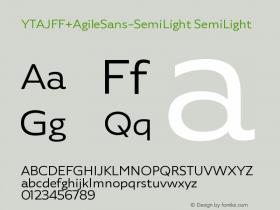 YTAJFF+AgileSans-SemiLight