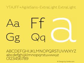 YTAJFF+AgileSans-ExtraLight