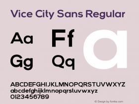 Vice City Sans