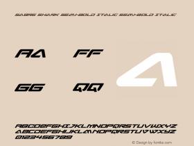 Sabre Shark Semi-Bold Italic