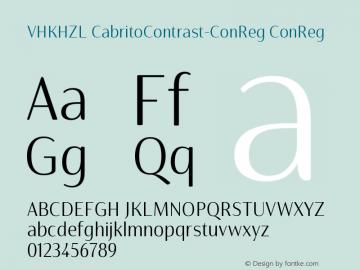 VHKHZL+CabritoContrast-ConReg