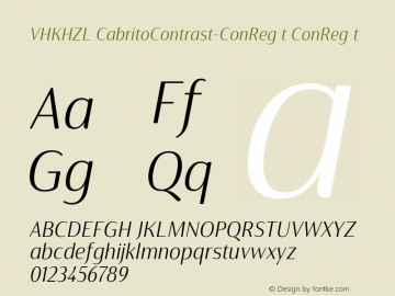 VHKHZL+CabritoContrast-ConRegIt