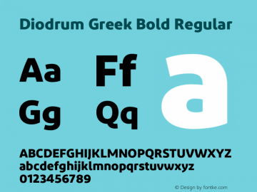 Diodrum Greek Bold