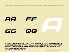 Federal Service Bold Expanded Italic