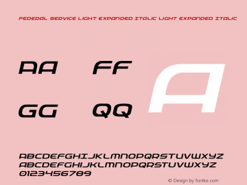 Federal Service Light Expanded Italic