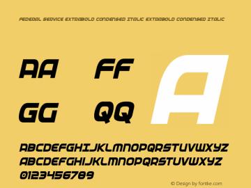 Federal Service ExtraBold Condensed Italic