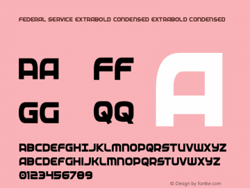 Federal Service ExtraBold Condensed