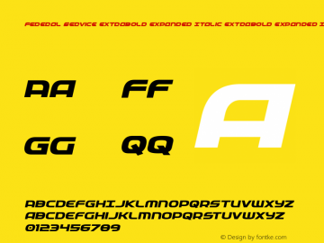 Federal Service ExtraBold Expanded Italic