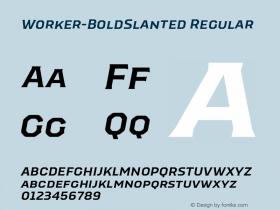 Worker-BoldSlanted