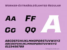 Worker-ExtraBoldSlanted