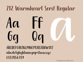 212 Warmheart Serif