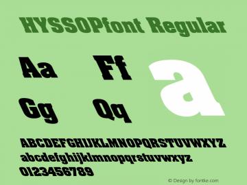 HYSSOPfont