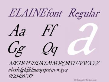 ELAINEfont