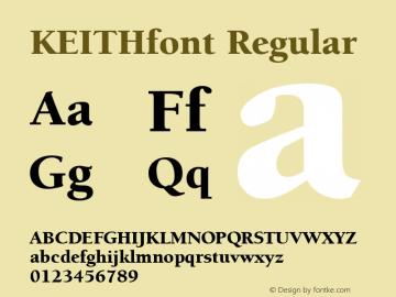 KEITHfont