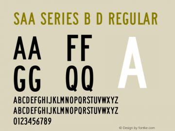 Saa Series B D