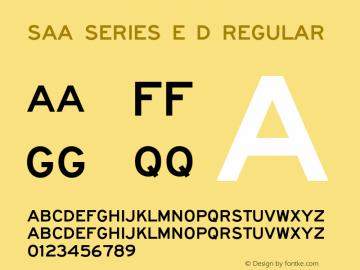 Saa Series E D