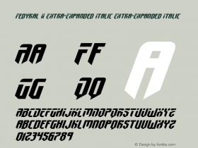 Fedyral II Extra-Expanded Italic