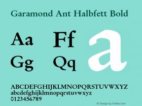 Garamond Ant Halbfett