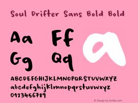 Soul Drifter Sans Bold