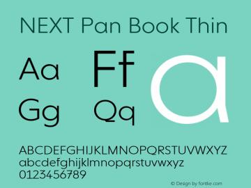 NEXT Pan Book