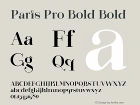 Paris Pro Bold