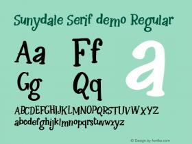 Sunydale Serif demo