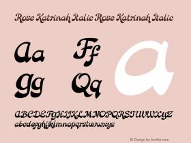 Rose Katrinah Italic