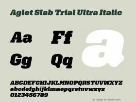 Aglet Slab Trial