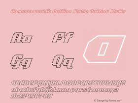 Commonwealth Outline Italic