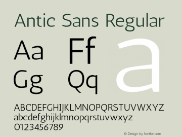 Antic Sans