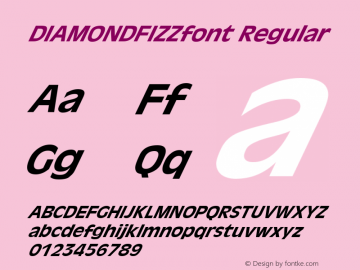 DIAMONDFIZZfont