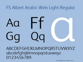 FS Albert Arabic Web Light