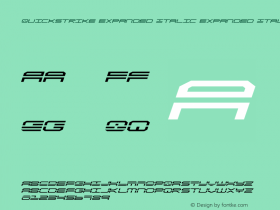 QuickStrike Expanded Italic