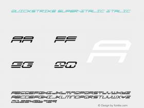 QuickStrike Super-Italic