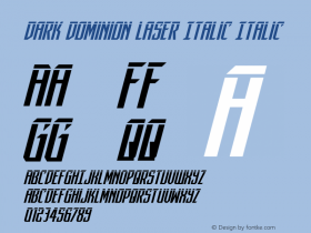 Dark Dominion Laser Italic