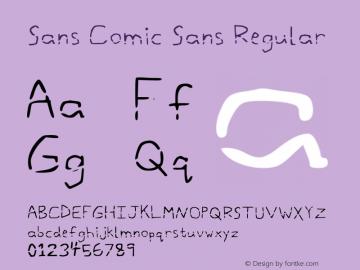 Sans Comic Sans