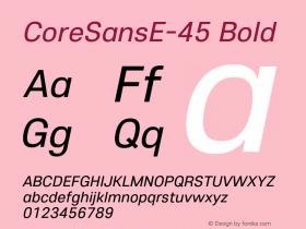 CoreSansE-45