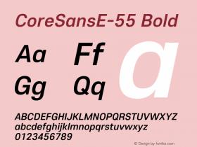 CoreSansE-55