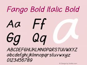Fango Bold Italic