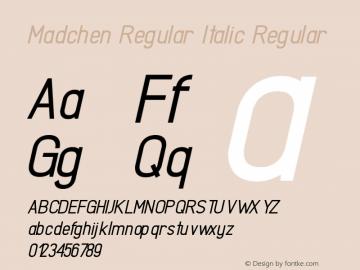 Madchen Regular Italic