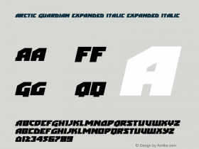 Arctic Guardian Expanded Italic